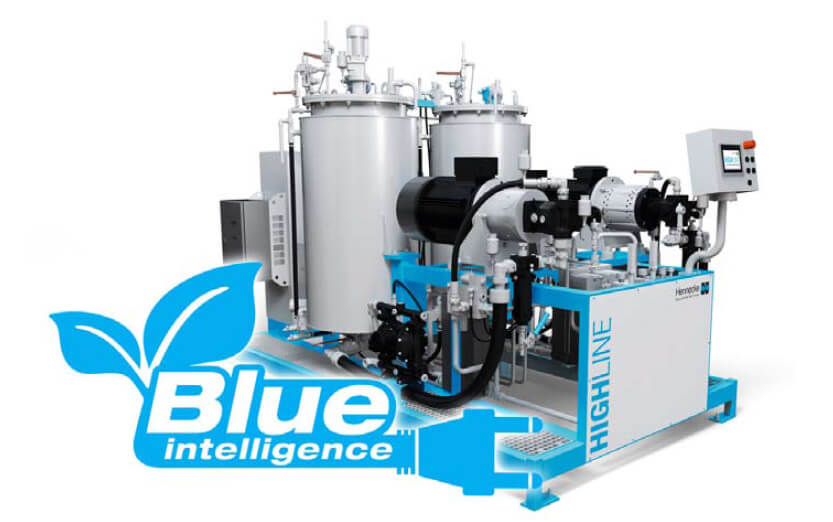 Significantly reduced energy costs in the foaming machine sector