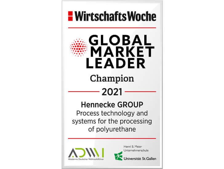 Hennecke는 세계 시장을 선도하는 리더입니다!