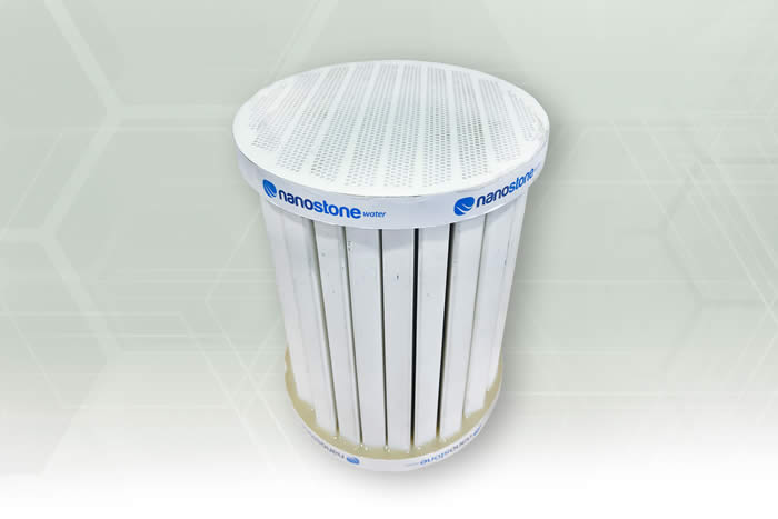 Uncoated ceramic industrial filter (show monolith)