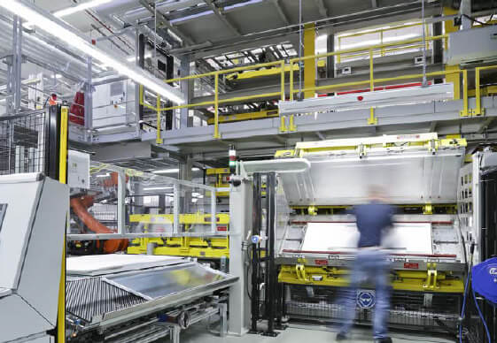 The new production line for refrigerators and freezers from the BSH Hausgeräte GmbH in Giengen