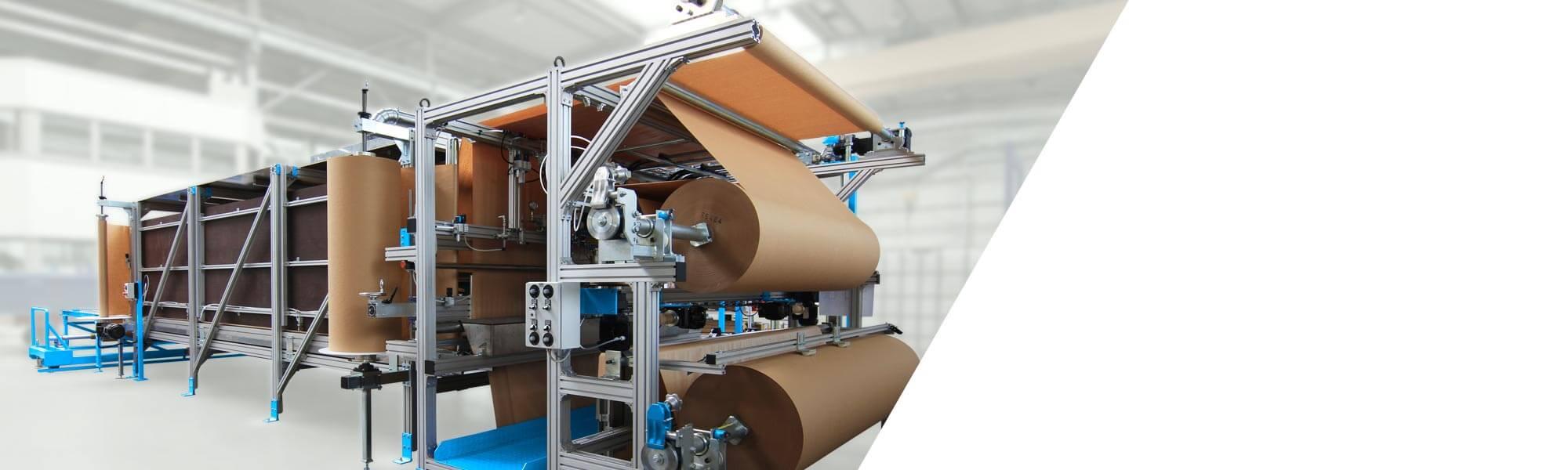 슬랩스탁 발포의 연속 생산을 위한 울트라-컴팩트 설비