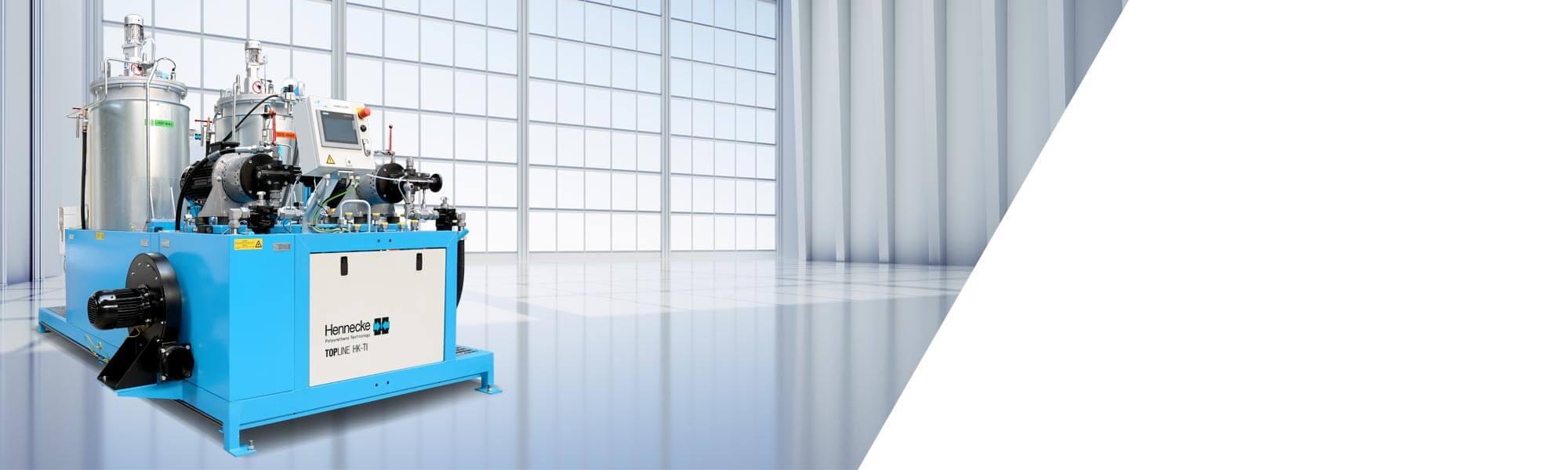 테크니컬 단열 분야에서 애플리케이션과 냉각기 생산을 위한 고압 미터링 기계