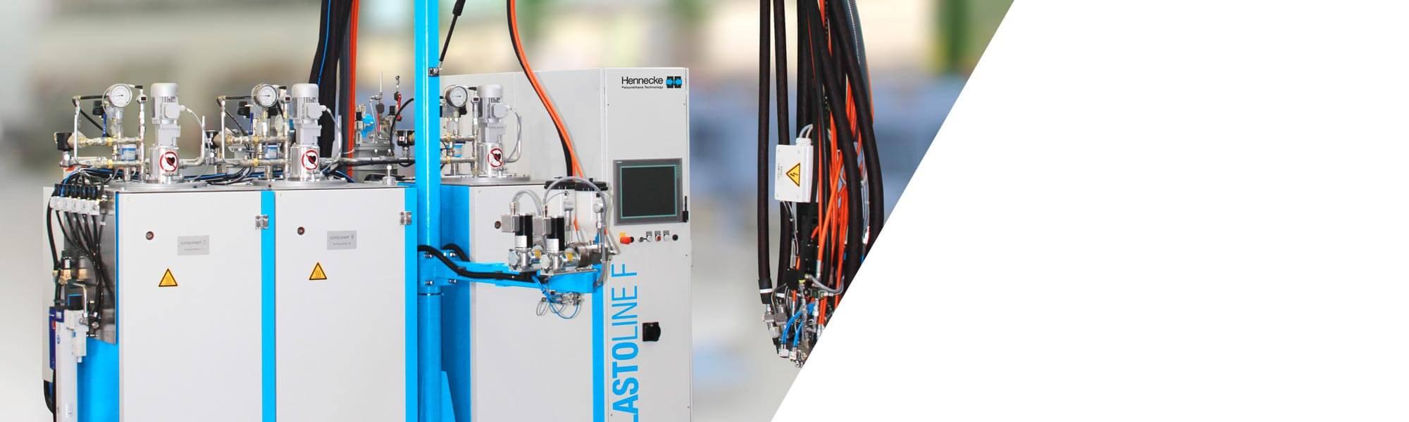캐스트 엘라스토머  프로세싱을 위한 저압 메터링 머신